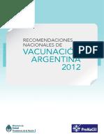 Vacunacion Argentina 2012