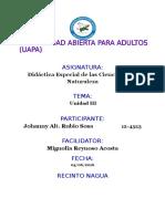 Tarea III Didactica Espacial de La s Ciencias de La Naturaleza Johanny Rubio