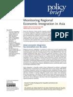 Monitoring Regional Economic Integration in Asia
