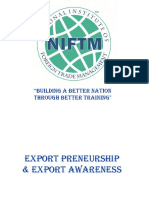 All Information about Export Entrepreneurship and Awareness