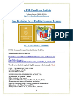 The ESL Excellence Institute's Free Beginning Level ESL Lesson Outline and Exercises