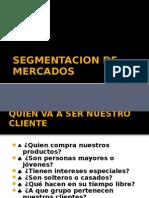 SEGMENTACION DE MERCADOS