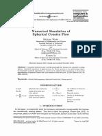 2004 [Heyuan Wang] Numerical Simulation of Spherical Couette Flow