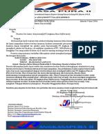 Surat Undangan Tes Interweu PT.angkASA PURA II Palembang