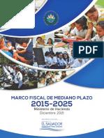 El Salvador, Marco Fiscal de Mediano Plazo 2015-2025