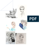 Character Sketch With Elsa and Inside Out