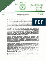 MILF Official Statement 06112016