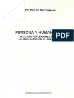 Patiño Dominguez Hilda Ana Maria - Persona Y Humanismo - Algunas Reflexiones Para La Educacion en El Siglo XXI