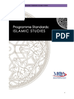 Program Standards_Islamic Studies