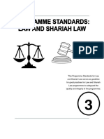 Program Standards_Law and Shariah Law