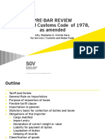 2015 Pre-Bar Lecture on Customs