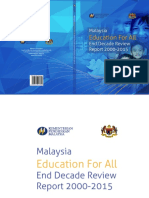 KPM - Malaysia Education for All (End Decade Review Report)