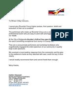Letter of Recommendation for Ricochet Circus - Kalgoorlie