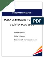 Programa Operativo Pesca Broca HOT TAP EDD-10!04!2016 REV00