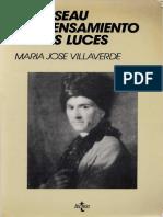 Villaverde Maria Jose - Rousseau Y El Pensamiento de Las Luces