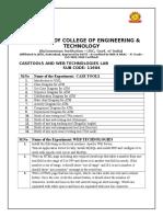 Case Tools & Wt List of Programs
