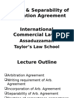 Topic 4 Lecture 1 Arb. Agreement Separability