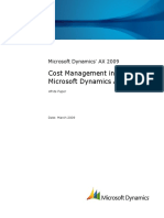 Microsoft Dynamics Ax 2009 Cost Management White Paper