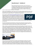 What Is Biometric Identification? - InfoBarrel