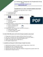 Latihan Ulangan IPA Kelas 2 Tentang Bab 7 Penggunaan Dan Penghematan (3)
