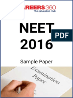 NEET 2016 Sample Paper