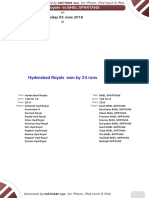 Season 3 - Match 28 - Hyd Royals x Bhel Spartans