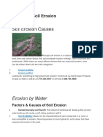 Causes of Soil Erosion