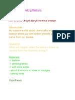 sciencereportchemicalenergy-theincredibleinflatingballoon