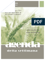 Comunità pastorale di Uggiate e Ronago Agenda della settimana