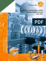 Ultraschallsensoren von ifm 2016 Deutsch