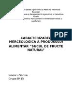 Caracterizarea Merceologica a Sucurilor (1)