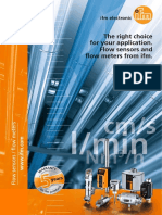 The Right Choice Flow Sensors Flow Meters From Ifm 2016 English