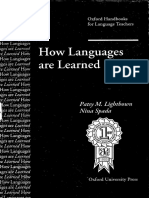 How Languages Are Learned - Lightbrown Spada