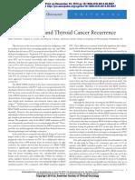 Braf Mutation and Cancer Recurrence