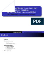 Electrodinámica de Materiales Con Valores Negativos de Permitividad y Permeabilidad. de Cherenkov a La Predicción de Veselago