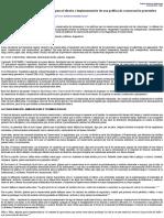 Aspectos Teóricos y Conceptuales Útiles Para El Diseño e Implementación de Una Política de Conservac