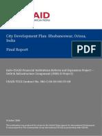 USAID-City Development Plan Report, Bhubaneswar