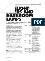 Safelight Filters And Darkroom Lamps
