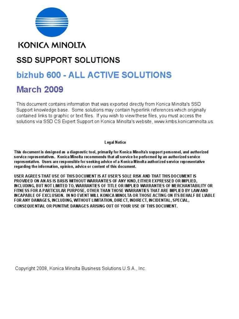 bizhub 600 all active solutions portable document format proxy rh scribd com konica minolta bizhub 600 service manual minolta bizhub 600 service manual