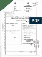 Benjamin Siounit v Palos Verdes Estates Police Department Complaint 01-28-2013
