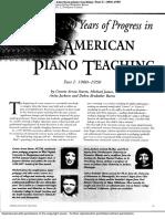 100 Years of American Piano Teaching