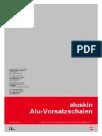 HB Aluskin Alu-Vorsatzschalen AM Planer de Deutsch