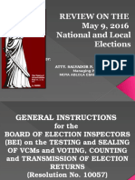 Review on 2016 Briefing on Election