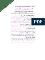 Nombres del Mensajero de Allah, la paz sea con el