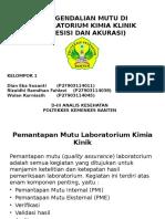 Pengendalian Mutu Di Laboratorium Kimia Klinik