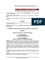 Código Penal para el Distrito Federal.