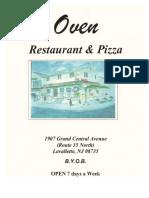 the oven menu
