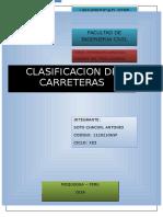 Informe Clasificación de Carreteras