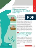 Más peruanos con sobrepeso y obesidad cada año