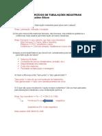 Resolução - Lista de Exercícios de Tubulações Industriais